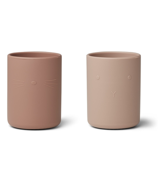 Liewood Liewood Ethan Silicone Cups  Roze Mix Set of 2
