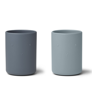 Liewood Liewood Ethan Silicone Cups  Blue Mix Set of 2
