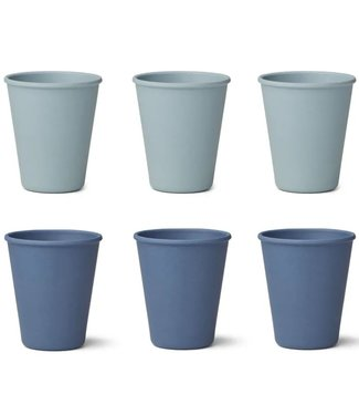 Liewood Liewood Gertrud Bamboo Cup Set of 6 - Blue Mix