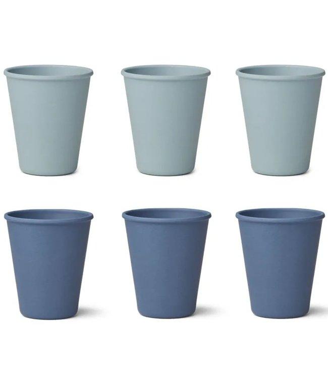Liewood Liewood Gertrud Bamboo Cup Set of 6 - Blue Mix