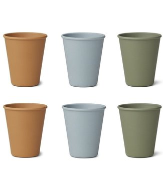 Liewood Liewood Gertrud Bamboo Cup Set of 6 - Blue Multi Mix