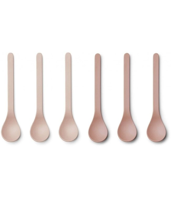 Liewood Liewood Etsu Bamboo Spoon Set of 6 - Rose Blush Mix