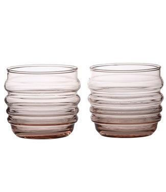 Marimekko Marimekko Sukat Makkaralla Glass Set of 2 pieces coral