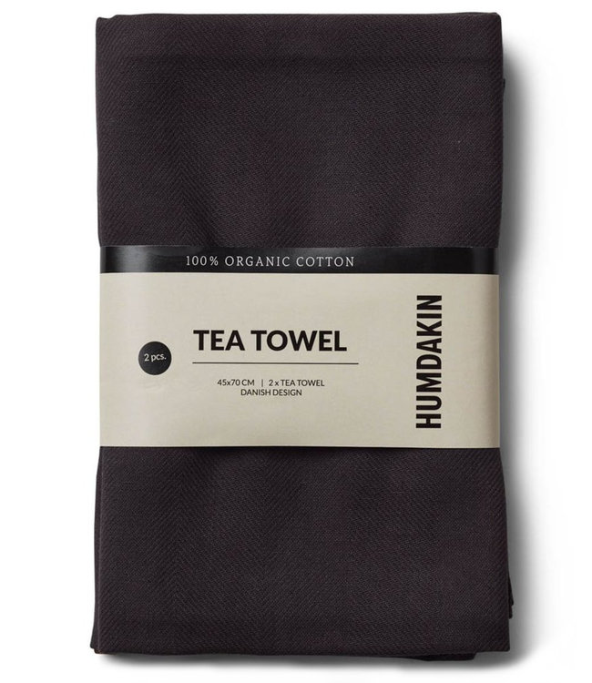 Humdakin Humdakin Tea Towel Coal Set of 2