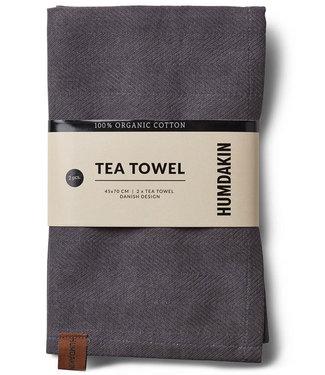 Humdakin Humdakin Tea Towel Dark Ash Set of 2