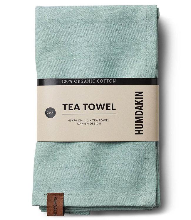 Humdakin Humdakin Tea Towel Dusty Green Set of 2