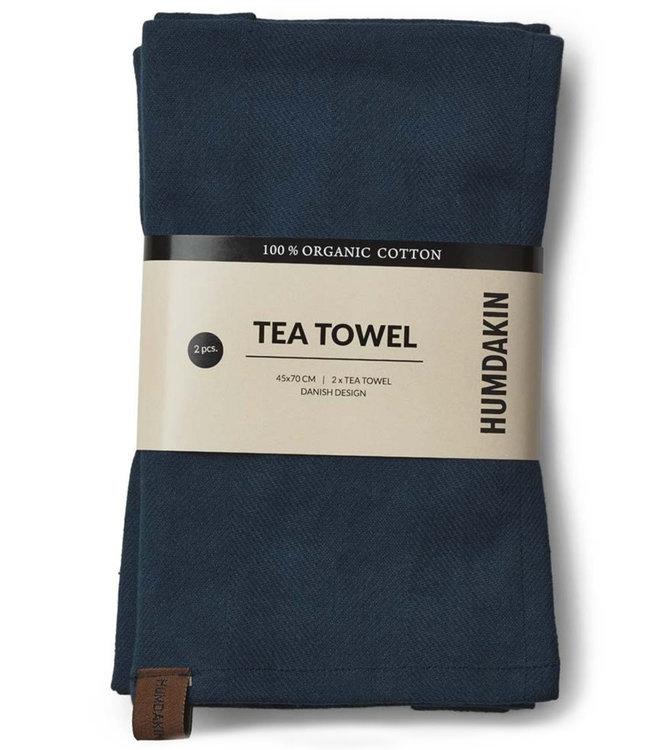 Humdakin Humdakin Tea Towel Sea Blue  Set of 2