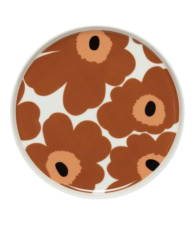 Marimekko Marimekko Unikko 20cm Plate Chestnut