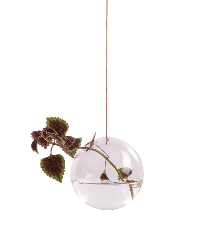 Studio About Studio About Flower bubble glazen vaasje 11cm roze