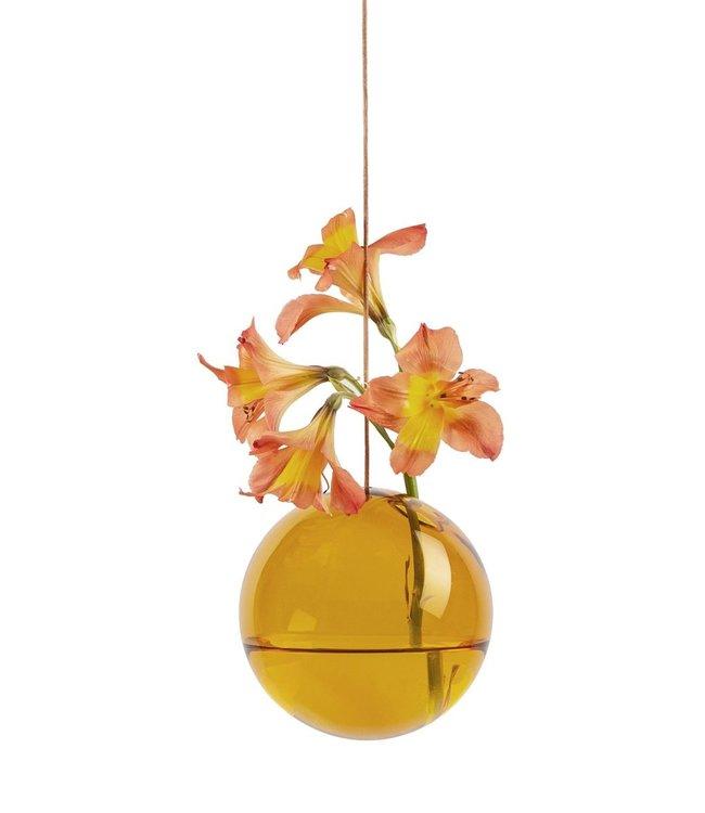 Studio About Studio About Flower bubble glazen vaasje 11cm amber