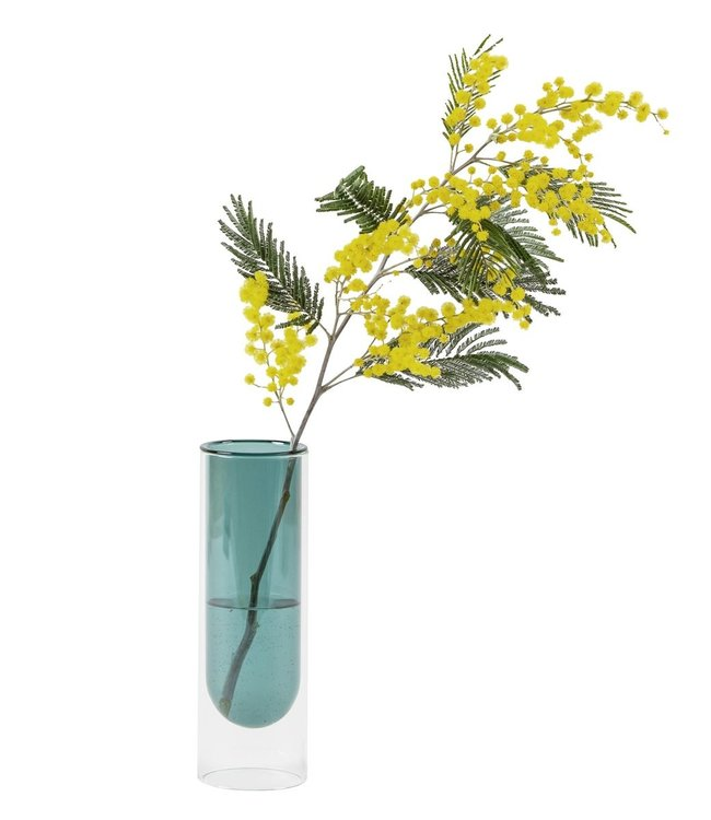 Studio About Studio About Flower tube Glass Vase H20cm Cyan