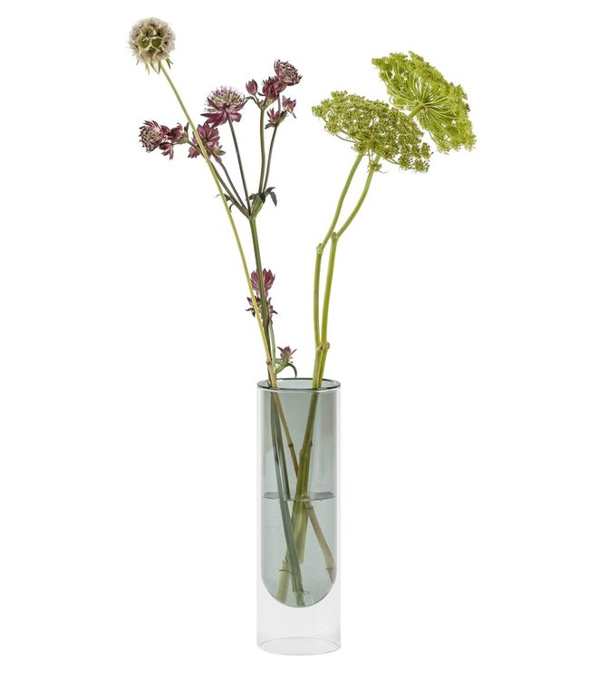Studio About Studio About Flower tube Glass Vase H20cm smoke