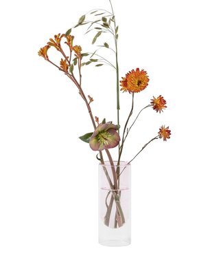 Studio About Studio About Flower tube glazen vaas H16cm Rose