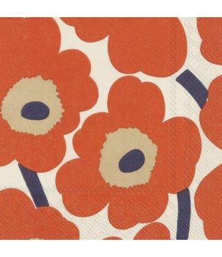 Marimekko Marimekko Unikko Paper Napkin 33x33cm Orange