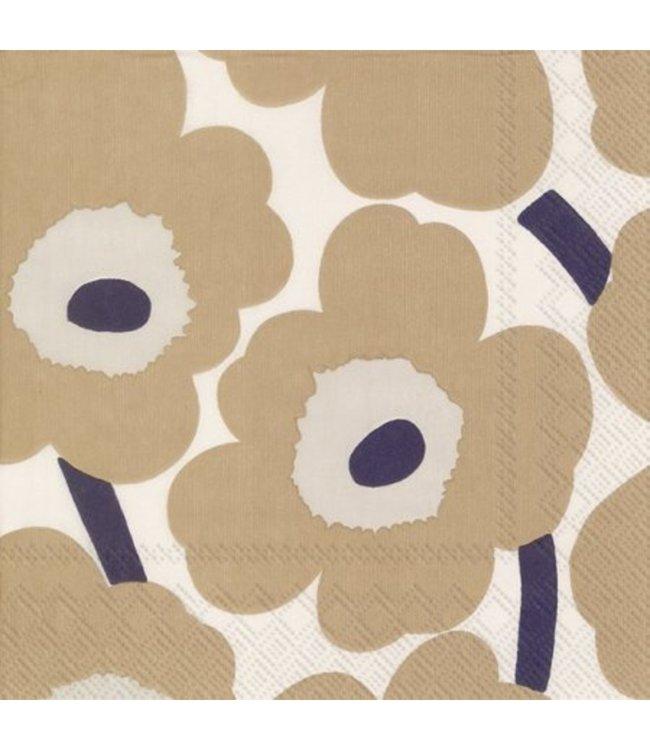 Marimekko Marimekko Unikko Paper Napkin 33x33cm Beige