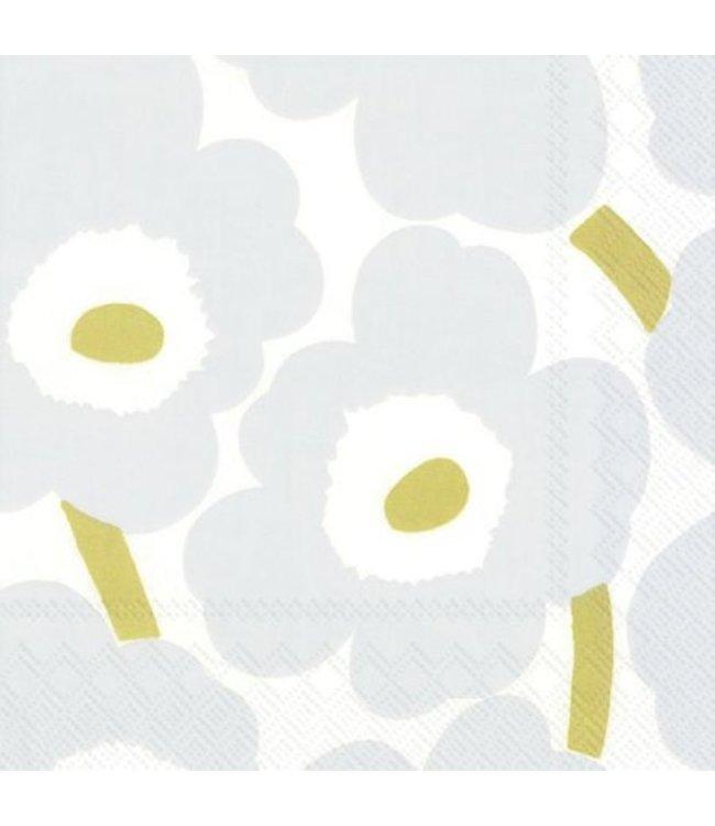 Marimekko Marimekko Unikko Paper Napkin 33x33cm Lightgrey Gold