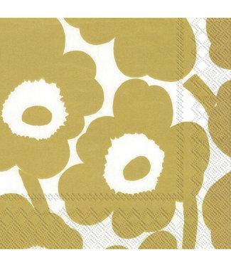Marimekko Marimekko Unikko Paper Napkin 33x33cm Gold