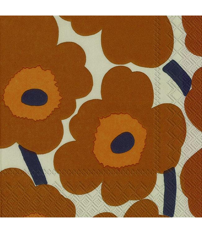Marimekko Marimekko Unikko Paper Napkin 33x33cm Chestnut