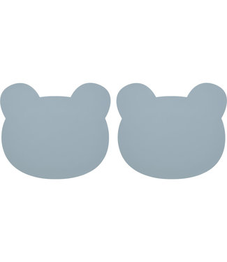 Liewood Liewood Silicone Placemat Bear Blue Set of 2