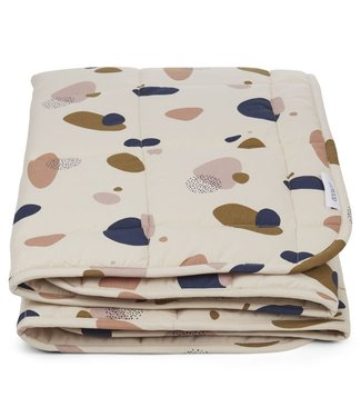 Liewood Liewood Ebbe Quilted blanket 100x100cm Bubbly Sandy