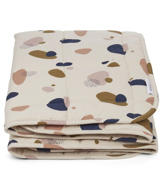 Liewood Ebbe Quilted blanket 100x100cm Bubbly Sandy