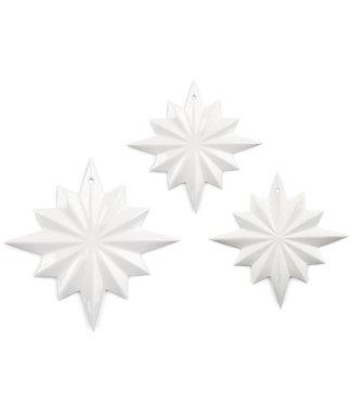 Dottir Dottir Samsurium Polaris - 3 keramieken sterren