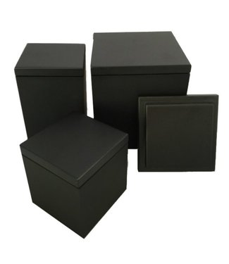 SEJ Design SEJ Design Black wooden lid for container12x12x12cm