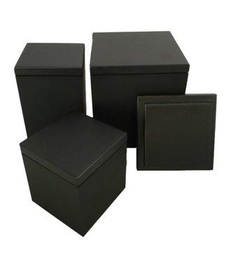 SEJ Design SEJ Design Zwart houten deksel voor bakje 12x12x12cm
