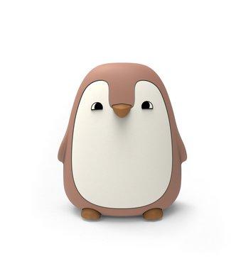 Liewood Liewood Nachtlampje Pinguïn Donkerroze
