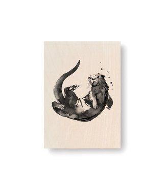Teemu Järvi  Teemu Järvi Plywood Card Otter 10x15cm