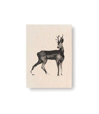 Teemu Järvi  Teemu Järvi Plywood Card Deer 10x15cm