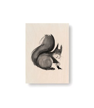 Teemu Järvi  Teemu Järvi Plywood Card Squirrel 10x15cm