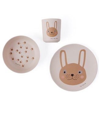 OYOY OYOY living design Bamboo Rabbit Children's Dinner Set