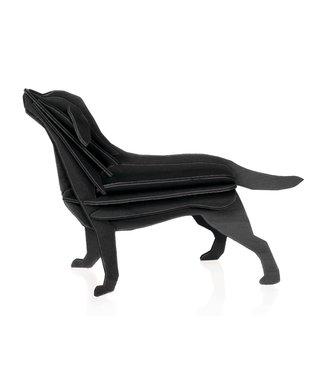 LOVI Lovi Labrador berkenhout zwart 3D-dier DIY pakketje