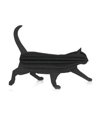 LOVI Lovi Kat berkenhout zwart 3D-dier DIY pakketje