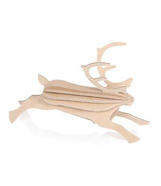 LOVI Lovi Rendier berkenhout naturel 3D-dier DIY pakketje