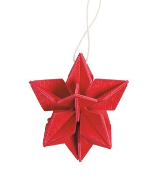 LOVI Lovi Ster berkenhout Rood 5cm DIY pakketje