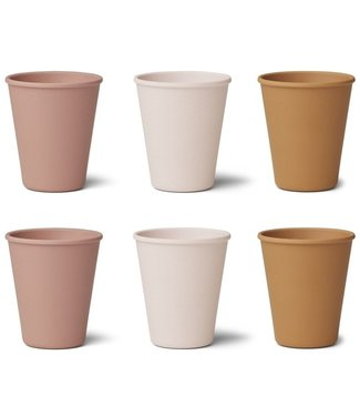 Liewood Liewood Gertrud Bamboo Cup Set of 6 - Corel Blush Multi Mix