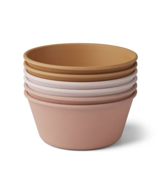 Liewood Liewood Greta Bamboo Bowl Set of 6 - Coral Multi Mix