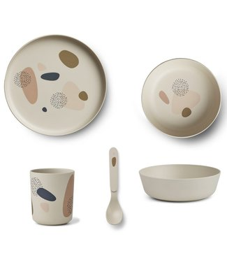 Liewood Liewood Bamboe Kinderservies Set Bubbly Sandy