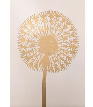 Monika Petersen Monika Petersen Lino Print Gold Dandelion Nude A3