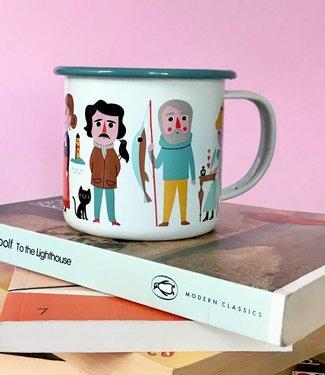 OMM Design OMM design Emaillen Beker Book lover