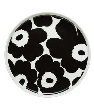 Marimekko Marimekko Unikko 20cm Bordje Zwart Wit