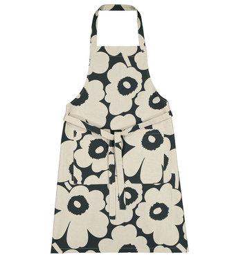 Marimekko Marimekko Unikko kitchen apron Darkgreen Linen-cotton