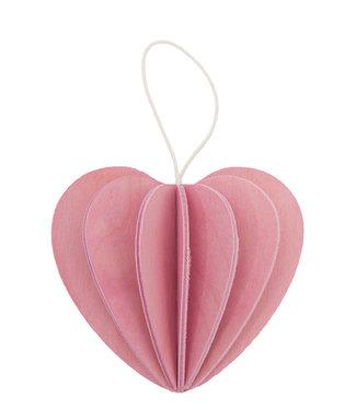 LOVI Lovi Hartje berkenhout roze 4,5cm DIY pakketje