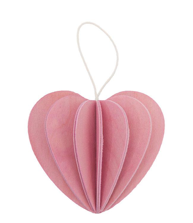 LOVI Lovi Heart birchwood pink 4.5cm DIY package