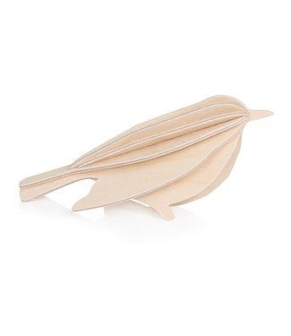 LOVI Lovi Vogel berkenhout naturel - 3 formaten - 3D-dier DIY pakketje
