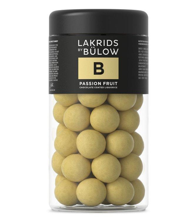 Lakrids by Bülow LAKRIDS BY BÜLOW - Lakrids B Passion Fruit - Regular 295g - Chocolate coated liquorice