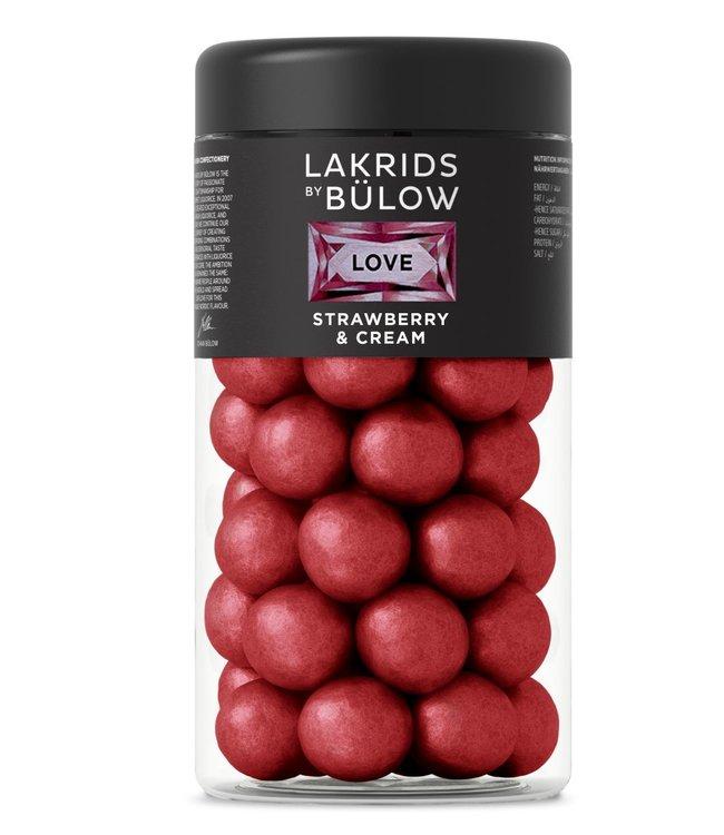 Lakrids by Bülow LAKRIDS BY BÜLOW - Lakrids Strawberry & Cream - Regular 295g - Chocolate coated liquorice