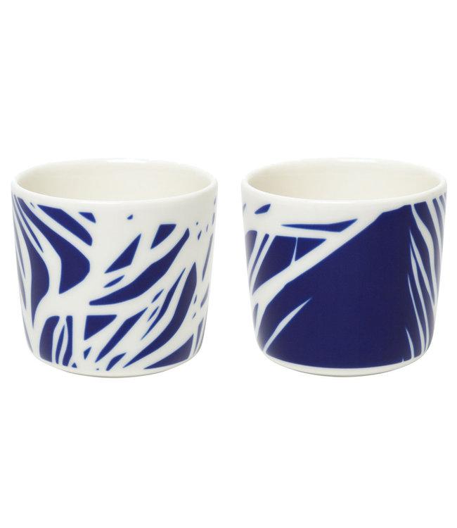 Marimekko Marimekko Ruudut mug 2 dl without ear – set of 2 in Jubilee packaging